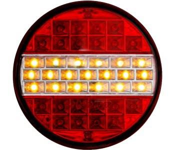 Задний фонарь диодный круглый (12-24вольт)