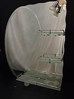 Зеркало для ванной 600*800 мм фацетное с аксессуарами в комплекте, без светильника