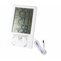 Электронный термометр - 2 температуры+влажность