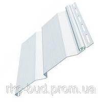 Сайдинг виниловый, фасадная панель Standart; белый цвет 3,66 х 0,205 м (0,75 м2)