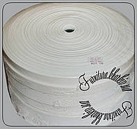 Резинка белая  2,5 см Турция белого цвета 50м