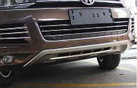 Volkswagen Touareg 2010+/2015+ гг. Передняя накладка V2 (2010-2015)