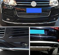 Volkswagen Touareg 2010+/2015+ гг. Передняя и задняя накладки V1 (2010-2015)
