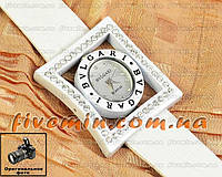 Женские наручные часы BvLgari Quartz B.rezol Lady Dimond White Булгари кварцевые