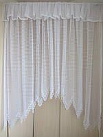 Тюль-арка гипюровая для кухни(белая и шампань)
