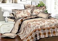 Двуспальный комплект постельного белья евро 200*220 хлопок  (7961) TM KRISPOL Украина