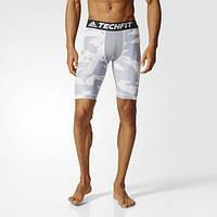 Компрессионные шорты мужские Adidas Techfit Chill Print CD3637