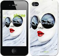 """Чехол на iPhone 4s Девушка акварелью """"2829c-12-532"""""""