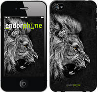 """Чехол на iPhone 4s Лев """"1080c-12-532"""""""