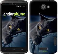 "Чехол на HTC One X Дымчатый кот ""825c-42-532"""