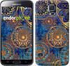 """Чехол на Samsung Galaxy S5 Duos SM G900FD Золотой узор """"678c-62-532"""""""