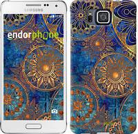 """Чехол на Samsung Galaxy Alpha G850F Золотой узор """"678c-65-532"""""""