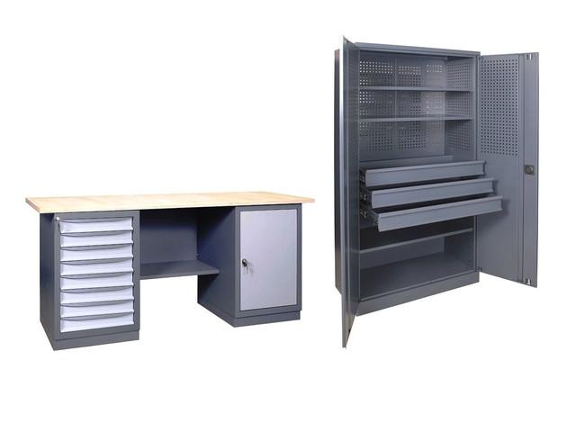 Промышленная мебель, верстаки, тумбы, шкафы инструментальные