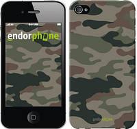 "Чехол на iPhone 4 Камуфляж v3 ""1097c-15-532"""