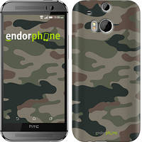 "Чехол на HTC One M8 Камуфляж v3 ""1097c-30-532"""