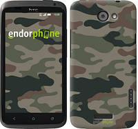 "Чехол на HTC One X Камуфляж v3 ""1097c-42-532"""