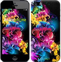 """Чехол на iPhone 5 Абстрактные цветы """"511c-18-532"""""""