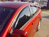 Дефлекторы окон EGR Mitsubishi Lancer X 2007-2015