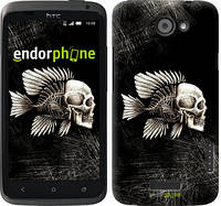 """Чехол на HTC One X+ Рыбо-человек """"683c-69-532"""""""