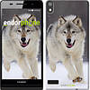 "Чехол на Huawei Ascend P6 Бегущий волк ""826c-39-532"""