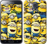 "Чехол на Samsung Galaxy S5 Duos SM G900FD Миньоны 8 ""860c-62-532"""