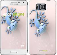 "Чехол на Samsung Galaxy Alpha G850F Гекончик ""1094c-65-532"""