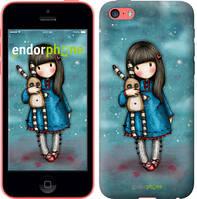 """Чехол на iPhone 5c Девочка с зайчиком """"915c-23-532"""""""