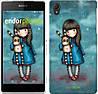 """Чехол на Sony Xperia Z2 D6502/D6503 Девочка с зайчиком """"915c-43-532"""""""