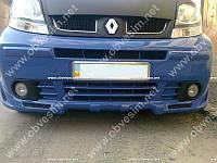 Юбка переднего бампера Nissan Primastar/Opel Vivaro/Renault Trafic (стекловолокно,под покраску)