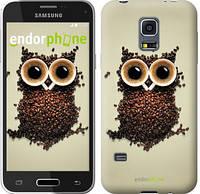 "Чехол на Samsung Galaxy S5 mini G800H Сова из кофе ""777c-44-532"""