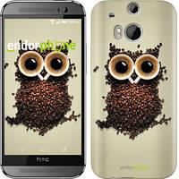 """Чехол на HTC One M8 Сова из кофе """"777c-30-532"""""""