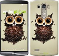 "Чехол на LG G3 dual D856 Сова из кофе ""777c-56-532"""