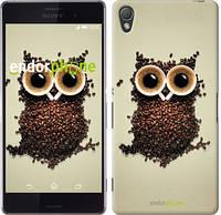 """Чехол на Sony Xperia Z3 D6603 Сова из кофе """"777c-58-532"""""""