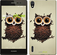 "Чехол на Huawei Ascend P7 Сова из кофе ""777c-49-532"""