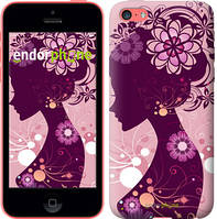 "Чехол на iPhone 5c Силуэт девушки ""2831c-23"""