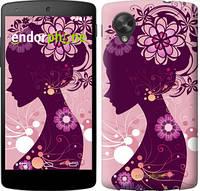 """Чехол на LG Nexus 5 Силуэт девушки """"2831c-57"""""""