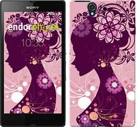 "Чехол на Sony Xperia Z C6602 Силуэт девушки ""2831c-40"""