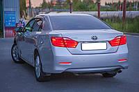 Заменяемые диодные габаритные огни красные Toyota Camry 50 11-14 / Venza 09-13 / Lexus GX 470 02-09 вместо отражателей в бампер, 2 режима: габарит и
