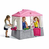 Детский игровой домик Step 2 NEAT & TIDY розовый