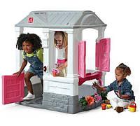 Детский игровой домик Step 2 COURTYARD COTTAGE розовый