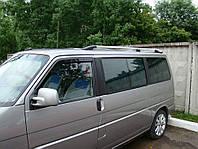 Рейлинги на крышу с металлическими креплениями Volkswagen T-4 Transporter/ Caravelle/ Multivan 1991-2003 КОРОТКАЯ БАЗА цвет  под хром (полированный