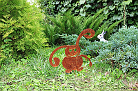 Садовая фигурка Заяц 2 (с морковкой)