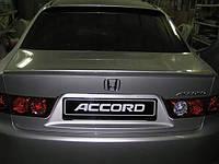 Спойлер лип багажника Honda Accord CL-7 2003-2007 ABS пластик под покраску