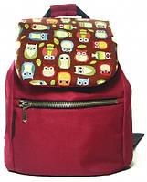 Небольшой рюкзак с совами TwinsStore, Р25 бордовый