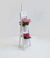 Деревянная подставка под цветы Мольберт 1/2 белая