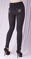 Леггинсы Шанель черные, фото 1