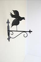 Подставка (крепление) для подвесного цветка Птица 3 голубь