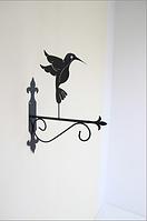 Подставка (крепление) для подвесного цветка Птица 4 колибри