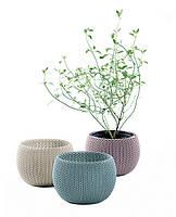 Набор горшков для растений Keter COZIES Herb Pot 3 шт