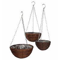 Набор горшков для растений Mica Decorations лоза 3 шт, коричневый